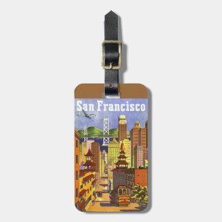 Vintage San Francisco Etiquetas Bolsa