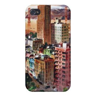 Vintage San Francisco Golden Gate Bridge View Covers For iPhone 4