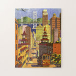 "Vintage San Francisco Jigsaw Puzzle<br><div class=""desc"">A beautiful vintage puzzle featuring a travel poster from United Air Lines of San Francisco.</div>"