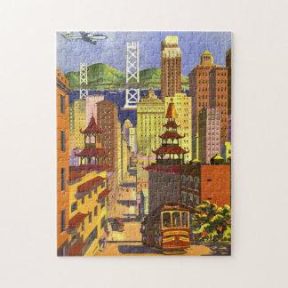 Vintage San Francisco Jigsaw Puzzle