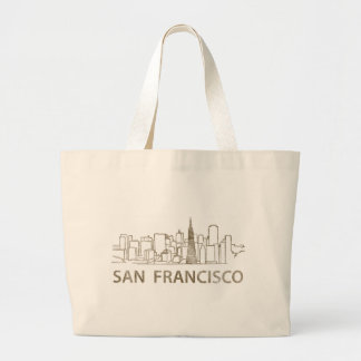 Vintage San Francisco Large Tote Bag