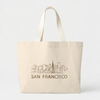 Vintage San Francisco Large Tote Bag