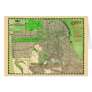 Vintage San Francisco Map from 1909 Card