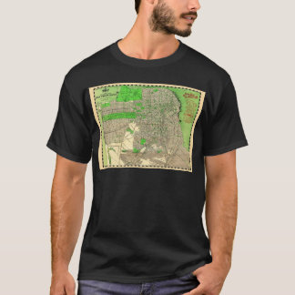 Vintage San Francisco Map from 1909 T-Shirt