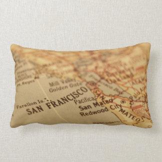 Vintage San Francisco Map Lumbar Pillow