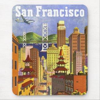 Vintage San Francisco Mouse Pads