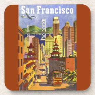 Vintage San Francisco Posavasos De Bebida