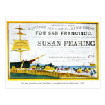 Vintage San Francisco Poster Postcard