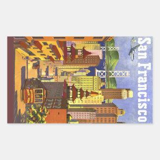 Vintage San Francisco Rectangular Sticker