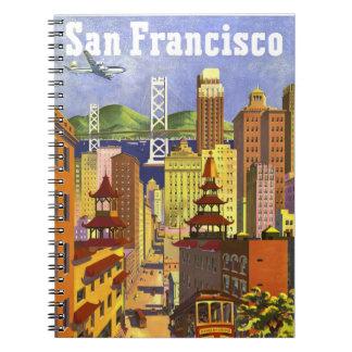 Vintage San Francisco Spiral Notebook