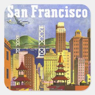 Vintage San Francisco Square Stickers
