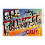 Vintage San Francisco Tarjeta Pequeña