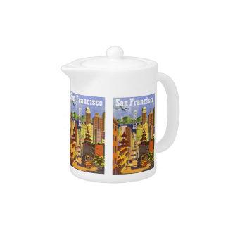 Vintage San Francisco Teapot