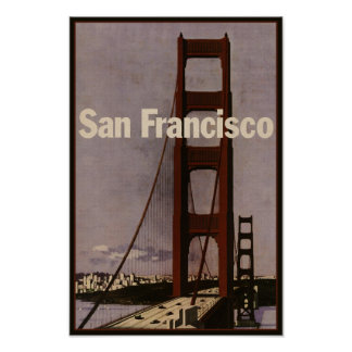 Vintage San Francisco Travel Poster