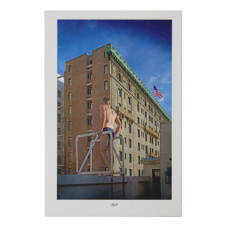 Vintage San Fransisco buildings Faux Canvas Print