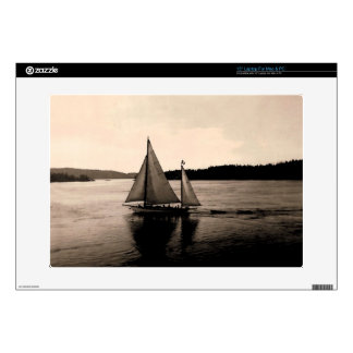 Vintage San Juan Island Sailing Decals For Laptops