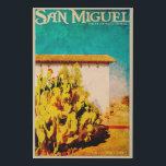 "Vintage San Miguel California Faux Canvas Print<br><div class=""desc"">A vintage republic original poster of The Mission San Miguel Arc&#225;ngel - a Spanish mission church in the historic town San Miguel,  San Luis Obispo County,  California</div>"