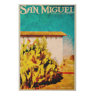 Vintage San Miguel California Faux Canvas Print