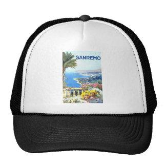 Vintage San Remo Italy Europe Travel Trucker Hat