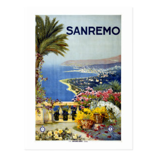 Vintage San Remo Italy Travel Postcard