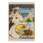 Vintage San Sebastian Spain Travel Art Print