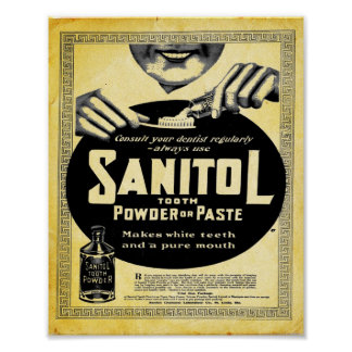 Vintage Sanitol Tooth Powder Or Paster Print