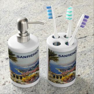 Vintage Sanremo Italy bathroom set
