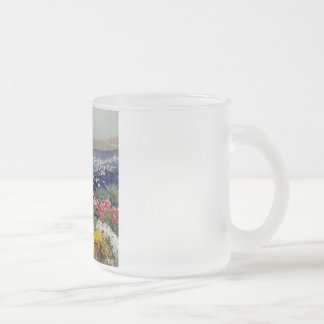Vintage Sanremo Travel Poster Frosted Glass Coffee Mug