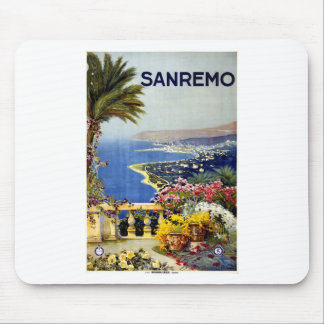 vintage-sanremo-travel-poster mouse pad