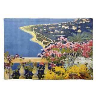 Vintage Sanremo Travel Poster Placemats