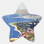 vintage-sanremo-viaje-poster pegatinas forma de estrellaes