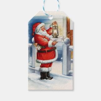 Vintage Santa 3 Pack Of Gift Tags