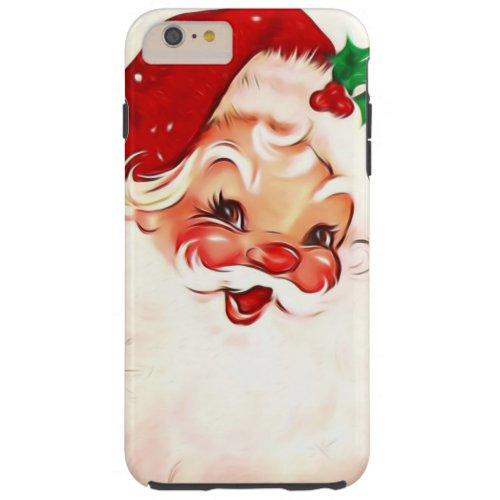 Vintage Santa 4 Tough iPhone 6 Plus Case
