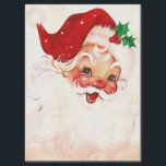 """Vintage Santa 4 Tissue Paper<br><div class=""""desc"""">A cute Santa Claus with a mistletoe . A beautiful vintage santa claus with. I restored this vintage public domain image. Click on Customize to personalized the gift product!</div>"""
