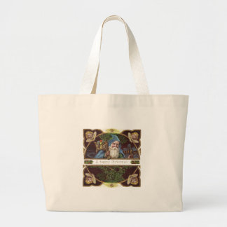 Vintage Santa and Angels Canvas Bags