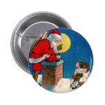 Vintage Santa and Children Button