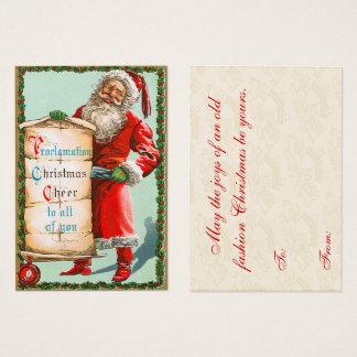 Vintage Santa and his List Christmas Gift Tags