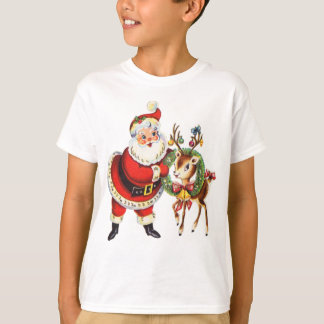 vintage santa and reindeer shirt