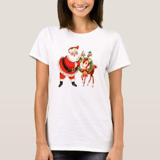 Vintage Santa and Reindeer T-Shirt
