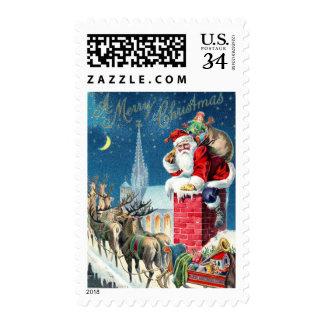 Vintage Santa at Christmas Postage