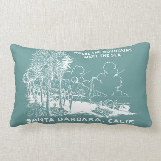 Vintage Santa Barabara California Almohada