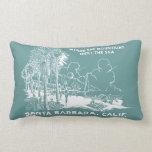 Vintage Santa Barabara California Cojines