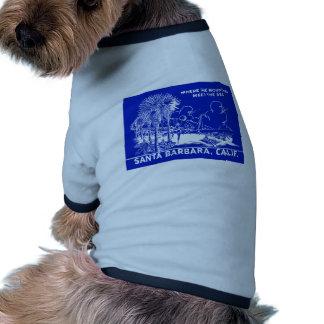 Vintage Santa Barabara California Doggie Tee Shirt