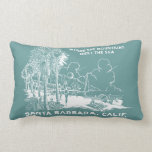 Vintage Santa Barabara California Lumbar Pillow at Zazzle