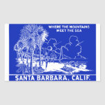 Vintage Santa Barabara California Pegatina Rectangular