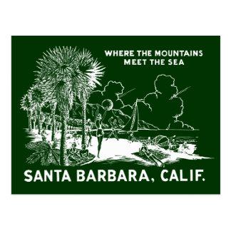 Vintage Santa Barabara California Postcard