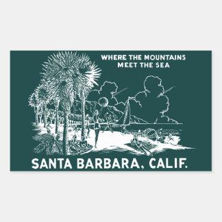 Vintage Santa Barabara California Rectangular Sticker