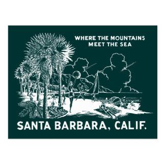 Vintage Santa Barabara California Tarjeta Postal