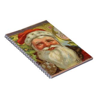 Vintage Santa Blessings Notebook