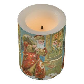 Vintage Santa Bringing Gifts Flameless Candle